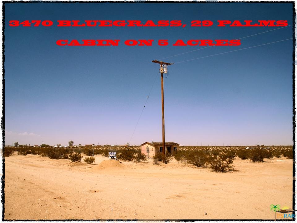 3470 BLUEGRASS, 29 Palms, CA 92277