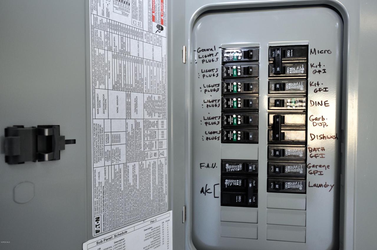 3717 ISLANDER WALK, Oxnard, CA 93035 - Garage Electrical Box