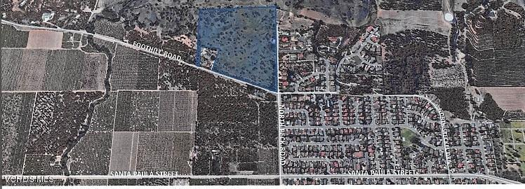 0 PECK AND FOOTHILL, Santa Paula, CA 93060 - 32.5 acres arerial cropped