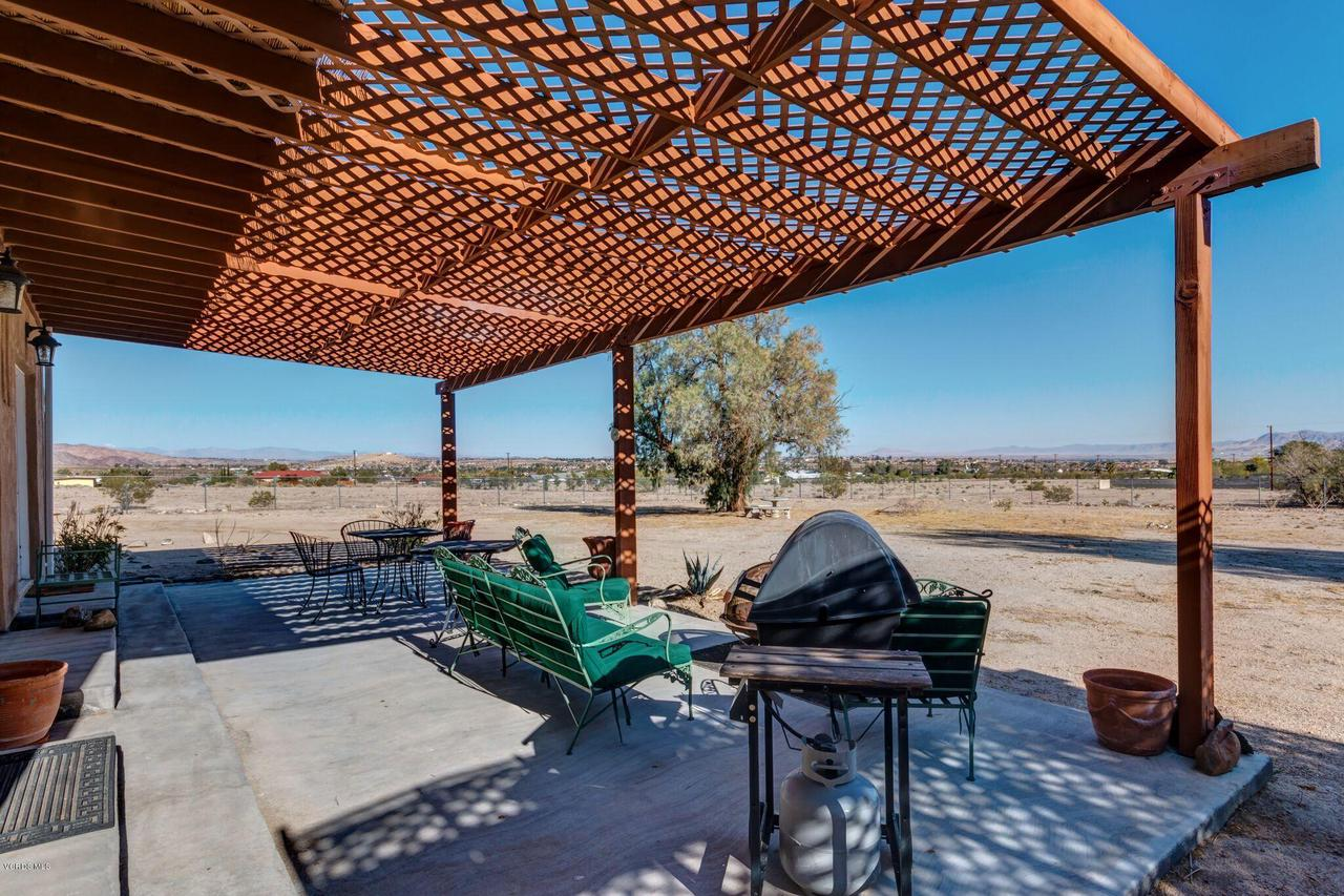 74784 FOOTHILL, 29 Palms, CA 92277 - Back Patio view 29 Palms