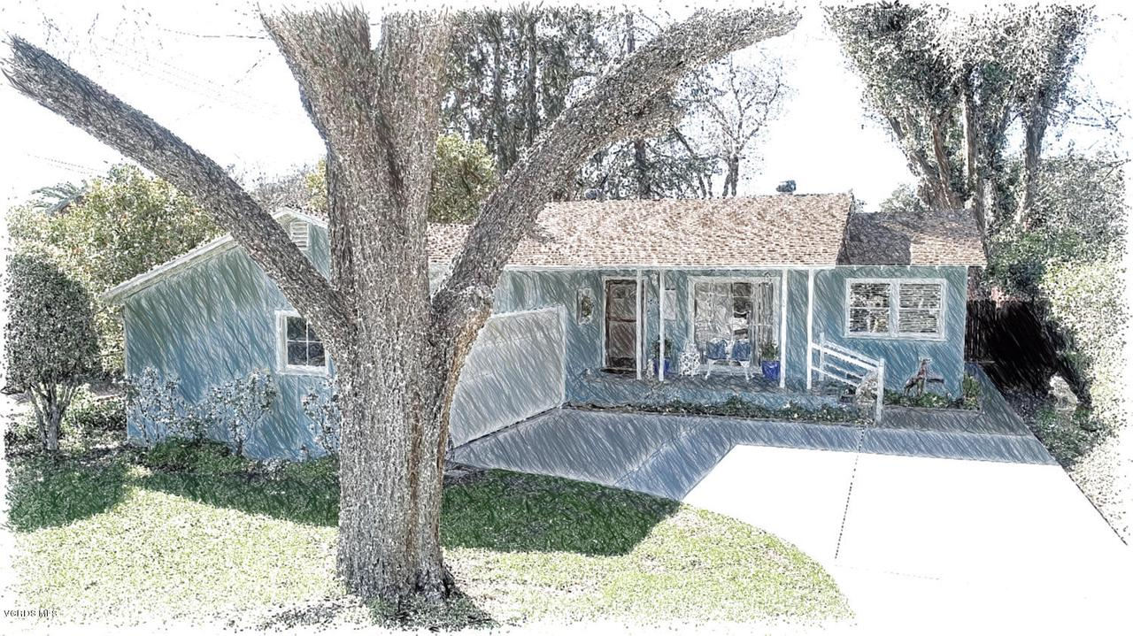 1003 DROWN, Ojai, CA 93023 - 1. Front of home-drawing
