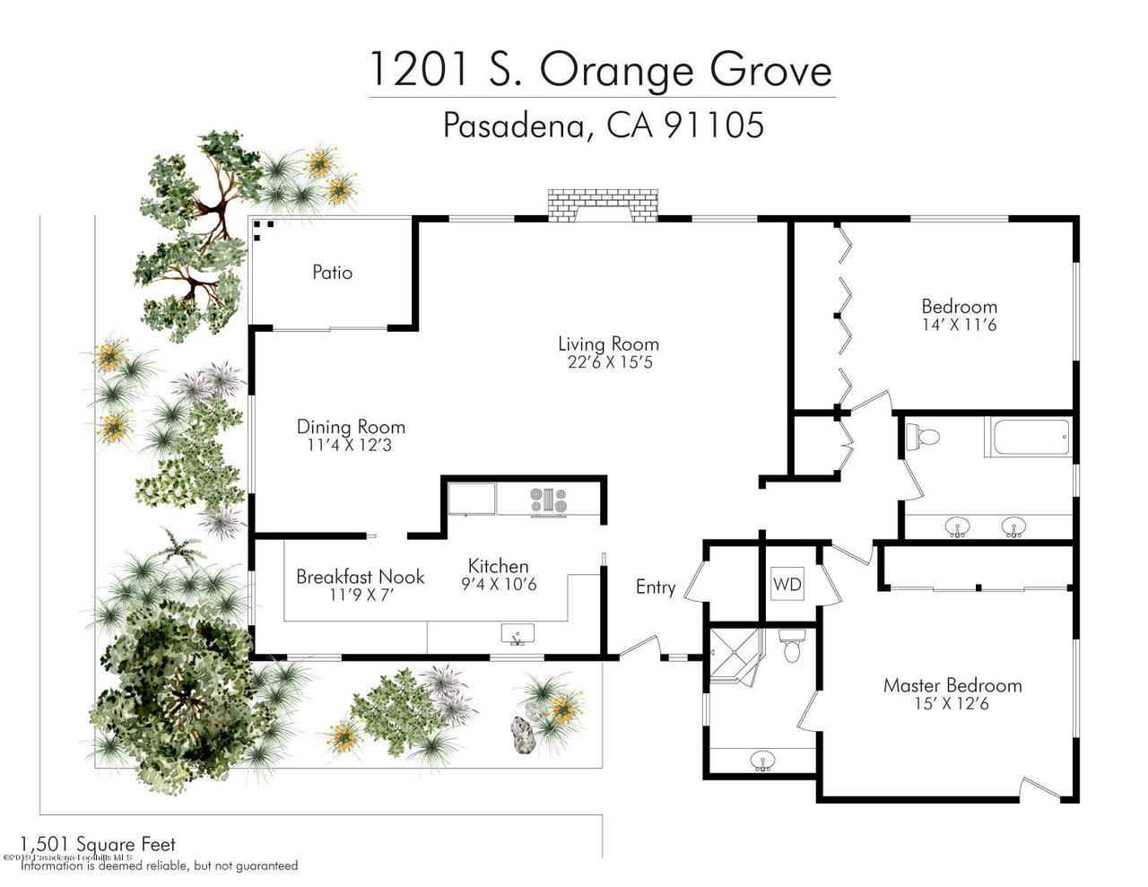 1201 ORANGE GROVE, Pasadena, CA 91105 - 1201-Orange-Grove Floor Plan 1501