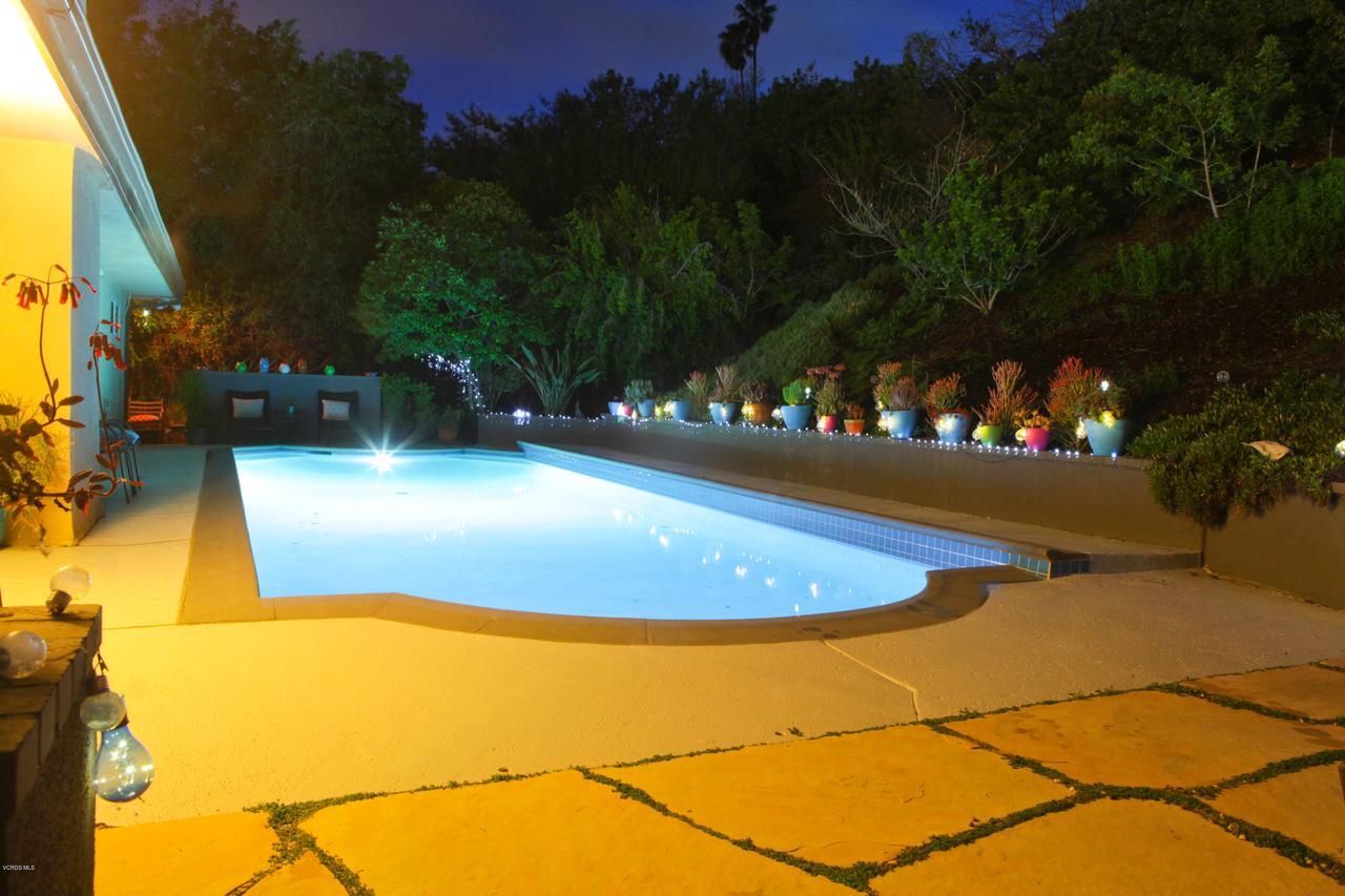 6231 PAT, West Hills, CA 91307 - Pool Nighttime