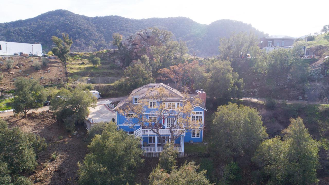 115 GILES, Lake Sherwood, CA 91361 - Back view of house