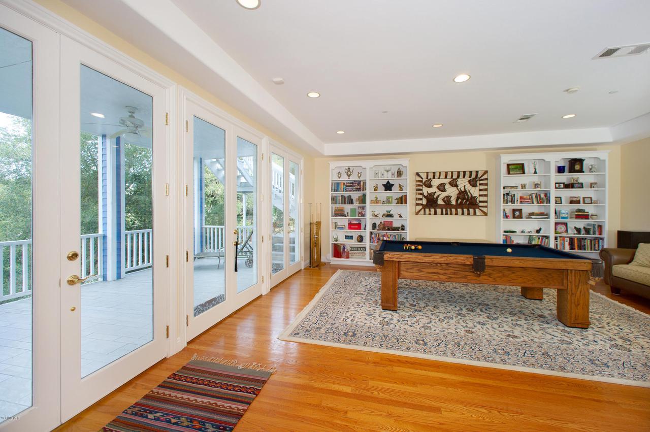 115 GILES, Lake Sherwood, CA 91361 - Billiard Room French doors to Patio