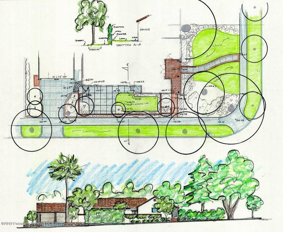 1970 MOUNTAIN, Pasadena, CA 91104 - Plan for Side Yard
