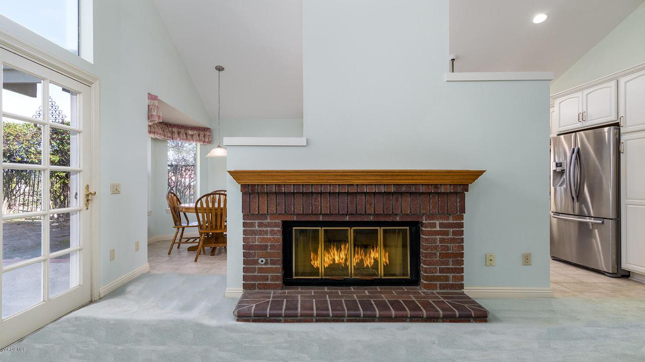 23825 STRATHERN, West Hills, CA 91304 - Family Room Fireplace