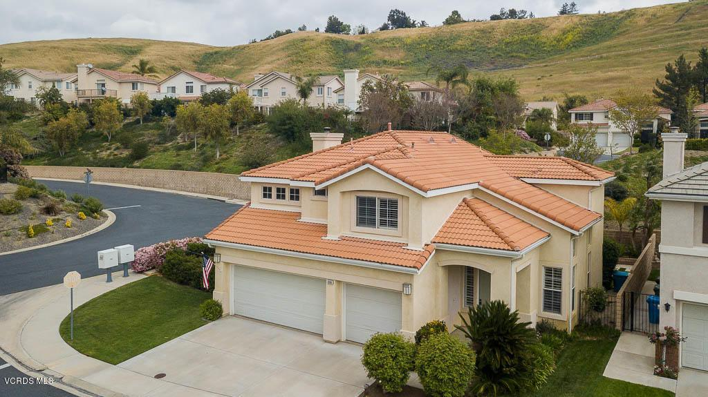 3096 OBSIDIAN, Simi Valley, CA 93063 - Ariel View